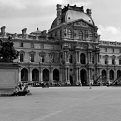 Tourists in the courtyard of a museum, Musee Du Louvre, Paris, France