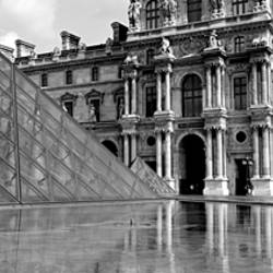 Pyramid in front of an art museum, Musee Du Louvre, Paris, France