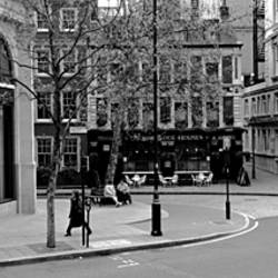 Buildings along a road, London, England