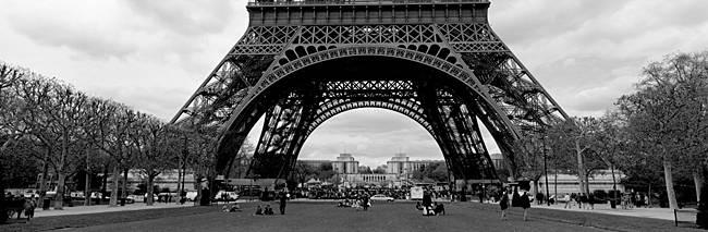 Low section view of a tower, Eiffel Tower, Paris, France