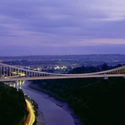 Bridge over a river, Clifton Suspension Bridge, Bristol, England