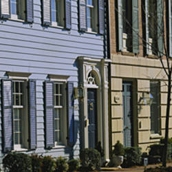 Row of houses in a town, Alexandria, Virginia, USA