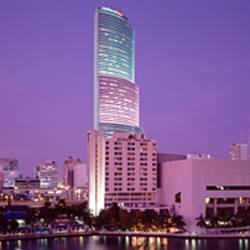 City In The Dusk, Miami, Florida, USA