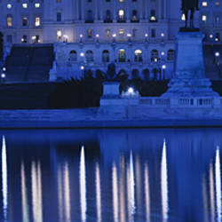 Reflection of a government building on water, Capitol Building, Washington DC, USA
