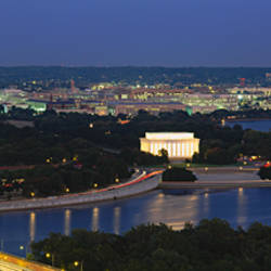 High angle view of a city, Washington DC, USA