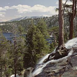 High Angle View Of The Eagle Falls, Emerald Bay, Lake Tahoe, California, USA
