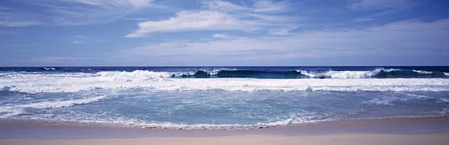 Waves Crashing On The Beach, Big Sur Coast, Pacific Ocean, California, USA