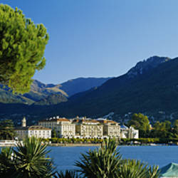 City on the waterfront, Lake Lugano, Lugano, Switzerland