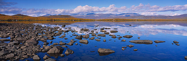 Rocks and pebbles in a lake, Torne Lake, Lapland, Sweden