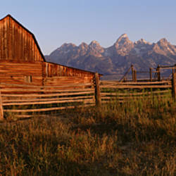 Exterior of a barn, Grand Teton National Park, Wyoming, USA
