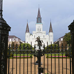 Facade of a church, St. Louis Cathedral, New Orleans, Louisiana, USA
