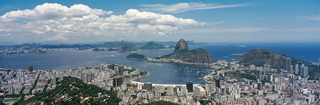 Aerial view of a city, Sugarloaf Mountain, Rio de Janeiro, Brazil