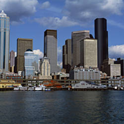 Buildings at the waterfront, Seattle, King County, Washington State, USA