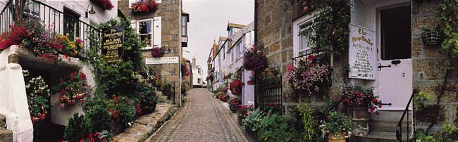 Saint Ives Street Scene, Cornwall, England, United Kingdom