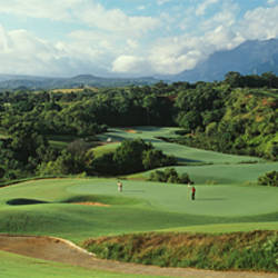 High angle view of a golf course, Princeville Golf Course, Princeville, Kauai County, Hawaii, USA