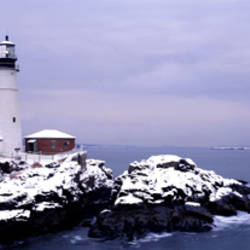 Lighthouse Portland Harbor ME USA