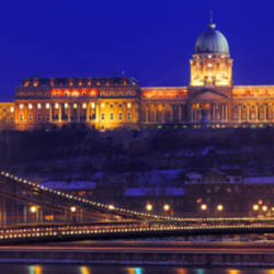 Chain Bridge, Royal Palace, Budapest, Hungary