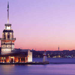 Sunset Lighthouse Istanbul Turkey