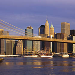 Bridge over a river, Brooklyn Bridge, Manhattan, New York City, New York State, USA