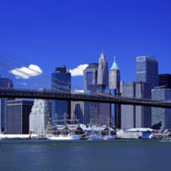 Brooklyn Bridge Skyline New York City NY USA
