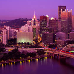 Dusk, Pittsburgh, Pennsylvania, USA