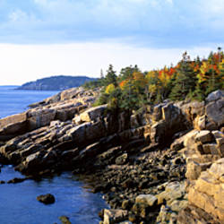 Rock formation at the seaside, Acadia National Park, Hancock County, Maine, USA