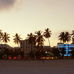 USA, Florida, Miami, Ocean Drive, View of the sunset