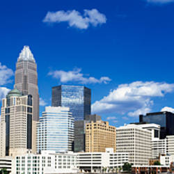 Skyscrapers in a city, Charlotte, Mecklenburg County, North Carolina, USA