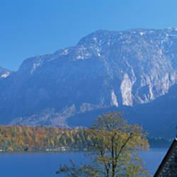 Church at the lakeside, Hallstatt, Salzkammergut, Austria