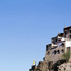 Low angle view of a castle, Yumbu Lakhang Palace, Tsetang, Tibet