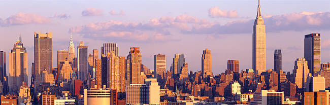 Skyscrapers in a city, Manhattan, New York City, New York State, USA