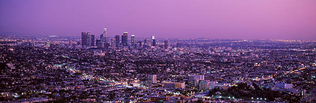 Sunset, Los Angeles, California, USA