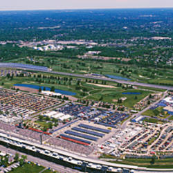 Aerial View Of A Racetrack, Indianapolis Motor Speedway, Indianapolis, Indiana, USA