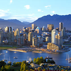 City at waterfront, False Creek, Vancouver, Lower Mainland, British Columbia, Canada
