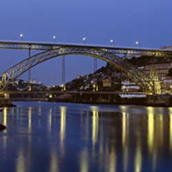 Night, Luis I Bridge, Porto, Portugal