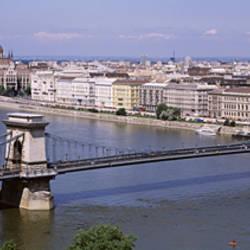 Aerial View, Bridge, Cityscape, Danube River, Budapest, Hungary