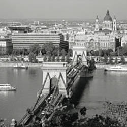Chain Bridge Over The Danube River, Budapest, Hungary