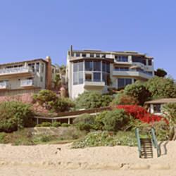 Low angle view of houses, Emerald Bay, Laguna Beach, California, USA