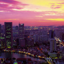 Cityscape, Sunset, Singapore