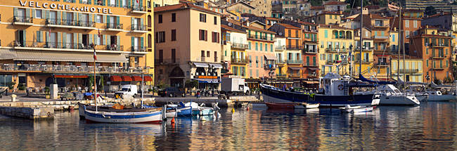 Town at the waterfront, Villefranche-Sur-Mer, Alpes-Maritimes, Provence-Alpes-Cote d'Azur, France