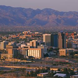 High angle view of a cityscape, Tucson, Arizona, USA