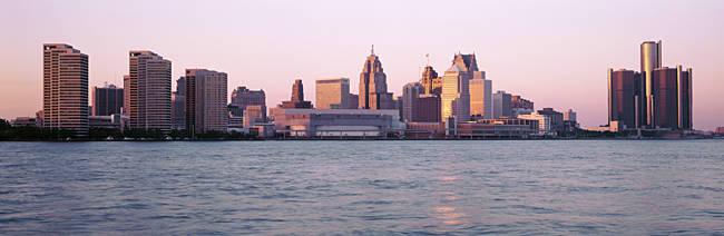Skyline Detroit MI USA