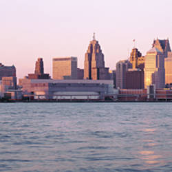 Skyline Detroit MI USA