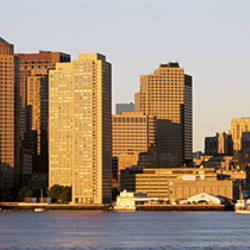 Sunrise, Skyline, Boston, Massachusetts, USA
