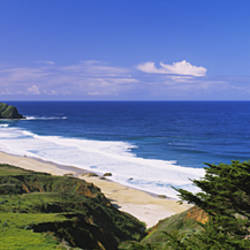 High angle view of a beach, Big Sur, California, USA