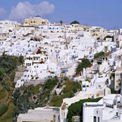 Buildings, Houses, Fira, Santorini, Greece