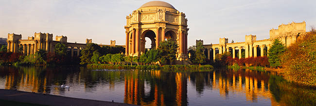 Buildings at the waterfront, Palace Of Fine Arts, San Francisco, California, USA