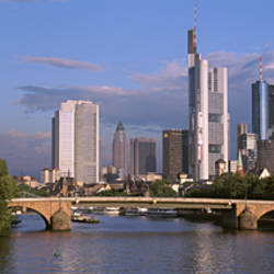 Cityscape, Alte Bridge, Rhine River, Frankfurt, Germany