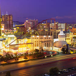 High angle view of a city, Las Vegas, Nevada, USA
