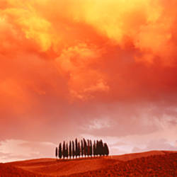 Sunset, Tuscany, Val d'Orcia, Italy